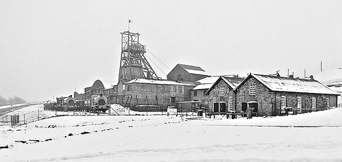 Wales national Mining Museum, BIG PIT Blaenavon January Snow 3