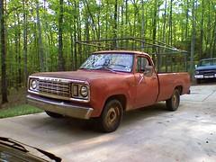 '75 Dodge D100 (2008) (stevenbr549) Tags: old red truck rack 1975 dodge ladder rough beater
