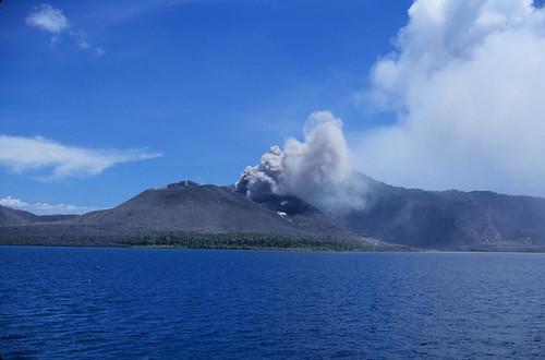 Active Volcano near Rabaul, New Britain Island