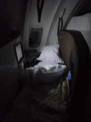Air New Zealand Biz Class Bed