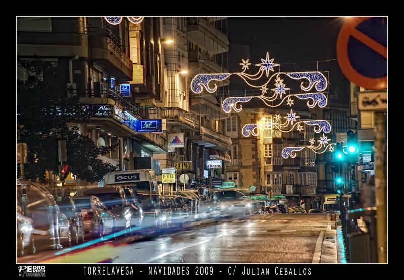 Torrelavega - Calle Julián Ceballos - Navidades 2009