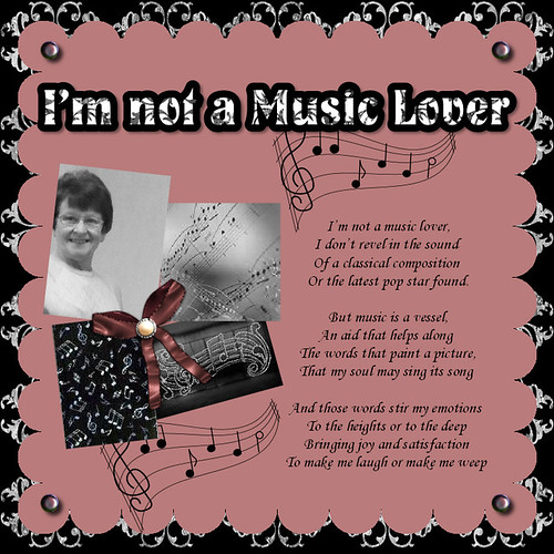 I'm not a music lover