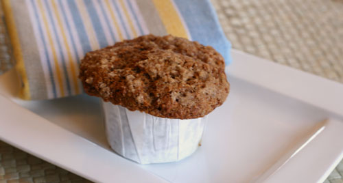 Whole Wheat Applesauce Graham Muffins with Streusel Topping Recipe
