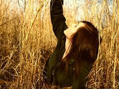 reach. (chelsearoberson) Tags: january 27 winter field sky jacket chelsearoberson olympuse520 weeds backyard