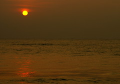 DSC01022 (shashank birudavolu) Tags: sea orange sun india beach water sunrise lens sony tokina alpha a100 vizag sonya100