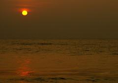 DSC01022 (shashank birudavolu) Tags: sea orange sun india beach water sunrise lens sony tokina alpha a100 vizag sonya100