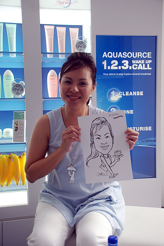 Caricature live sketching for Biotherm Roadshow Loreal - 21