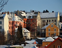 Bakklandet, Trondheim (ystenes) Tags: winter norway photography norge photo vinter foto norwegen 1001nights trondheim srtrndelag norvege bakklandet fotografi magiccity trndelag nidelven brygger norwat drontheim midtnorge tronhjem 1001nightsmagiccity mygearandmepremium magiccty
