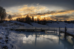 Rra Strand! (Johan Runegrund) Tags: trees snow cold ice water night reflections harbor twilight nikon salt late redneck hdr tjrn seawater orust d40 abigfave frezing rrastrand