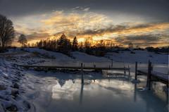 Röra Strand! (Johan Runegrund) Tags: trees snow cold ice water night reflections harbor twilight nikon salt late redneck hdr tjörn seawater orust d40 abigfave frezing rörastrand
