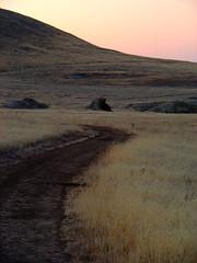 Evening Hike In Carrizo (nedlugr) Tags: california road sunset evening rocks hills grassland prarie carrizoplain drygrass