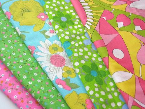 Vintage 60-70's Happy Fabrics :-)