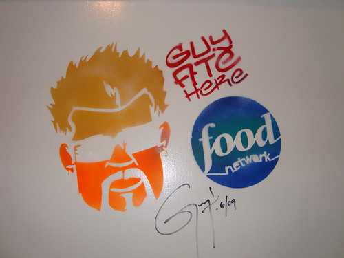 Guy Fieri Makes His Mark @ The Oinkster