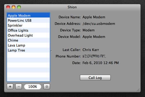 Shion: Caller ID