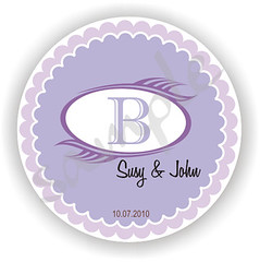 Personalized 100 2inch circle Stickers (moreandmore2009) Tags: love bridalshower sticker thankyou monogram decoration weddings favor personalized anniversaryparty winelabel tablenumber papergoods favortag