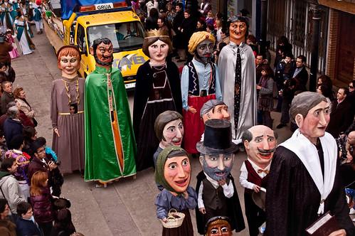 Gigantes y Cabezudos del Carnaval de Herencia 2010