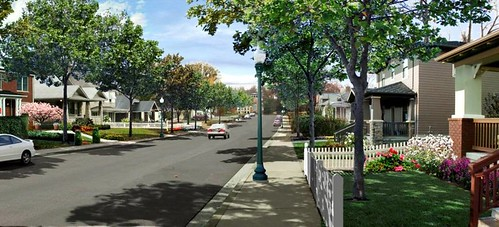 same street with restored infrastructure, vacant lots filled (courtesy of Urban Advantage)