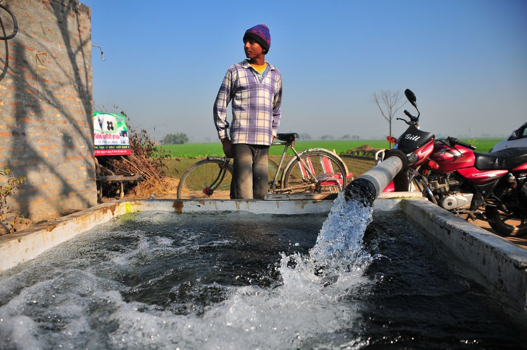 With free electricity, famers pump water 4-6 hours a day.