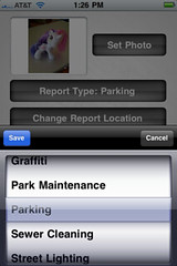 City of Portland Citizen Reports iPhone app