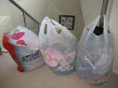Clothes to be donated