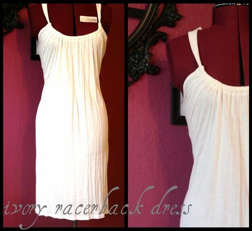 ivory racerback dress