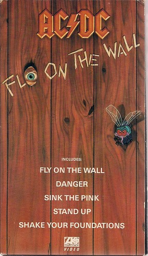 1985 AC/DC Fly On The Wall VHS (Front)