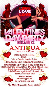 Valentines Day Party - Antiqua Disco Club