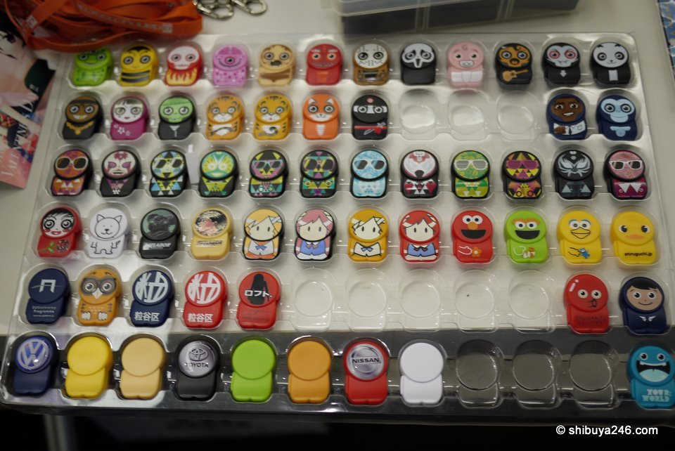 Plenty of Poken on offer here. Which would be your choice?