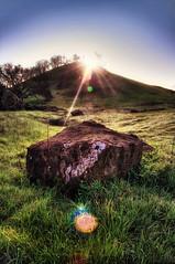 Sunflare (Mahnie) Tags: trees sunset northerncalifornia rock hill hdr alternate mtdiablostatepark shootingintothesun canon1785mm shellridge canon450d