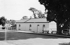 Railway station, Cowper Street, Wallsend, NSW, Australia (Cultural Collections, University of Newcastle) Tags: australia railwaystation nsw wallsend hunterregion cowperstreet 61104b