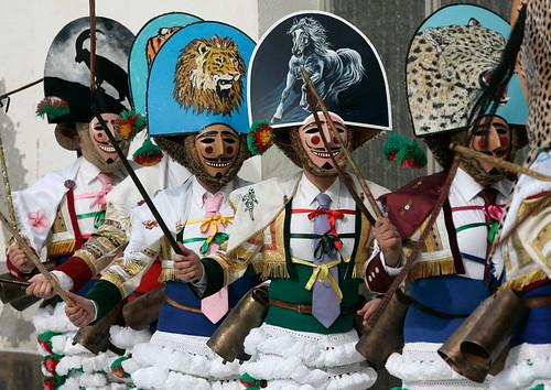 'Peliqueiros' Carnavales en Laza, Ourense, Galicia, Spain