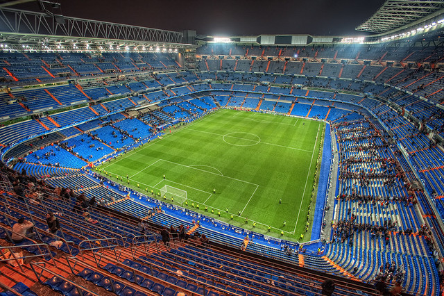 Real Madrid CF Santiago Bernabéu Stadium, Madrid HDR