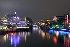 (Jake Ji) Tags: china light snow reflection night river nanjing jiangsu     5photosaday