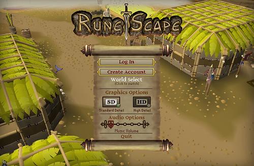 Runescape - main menu