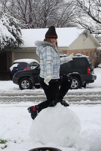 Her Snowman Fell
