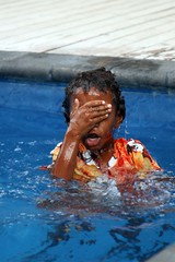Learning to Swim (Sionth) Tags: pool girl fiji swimming dress resort octopus sionth flickrchallengegroup flickrchallengewinner