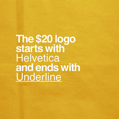 The $20 Logo (Pixel Fantasy) Tags: logo helvetica underline