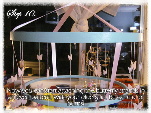 Step 10 (Tutorial- How to make a Chandelier Style Butterfly Mobile)