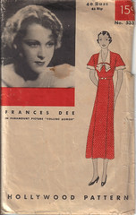 Hollywood 533 (Amy Jeanne) Tags: vintage 1930s pattern sewing hollywood 1933 collegehumor 533 francesdee