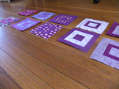 Paintbox quilt along blocks--purples