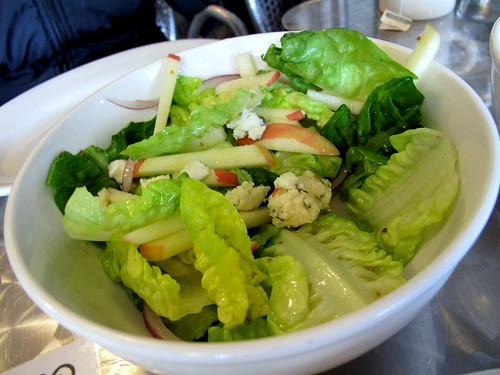 Butter Lettuce Salad with apples and blue cheese at Il Cane Rosso
