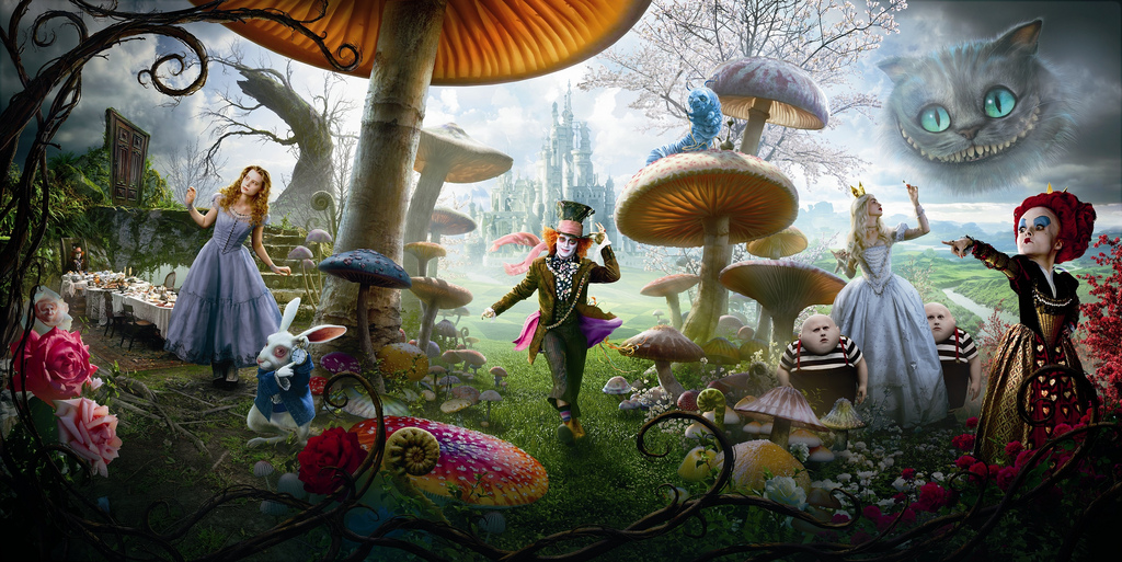 Alice in Wonderland 2010 complete movie poster