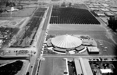 Melody Land and Orange Grove (arbyreed) Tags: bw film aerial oc melodyland arbyreed orangecountyhistory sixtiesorangecounty ochistory melodylandtheater