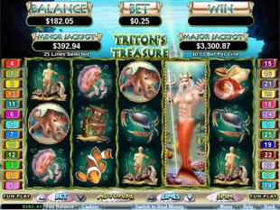 free Triton's Treasure slot expanding wild