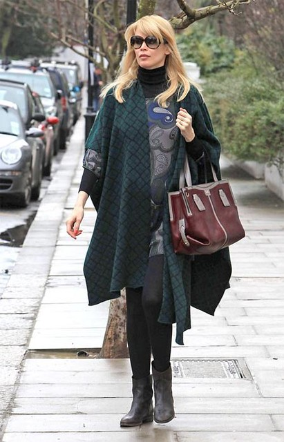 Six-Months-Pregnant Claudia Schiffer Dropping Off Her Kids at School in London by Candy_Kirby
