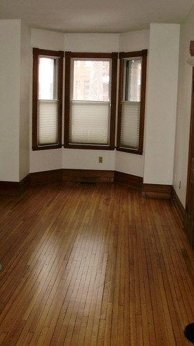empty apartment, bay window