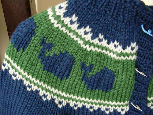 pod cardigan close up