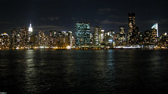 Gotham Skyline (mad_eclectic) Tags: nyc ny skyline night lights manhattan eastriver gotham longislandcity