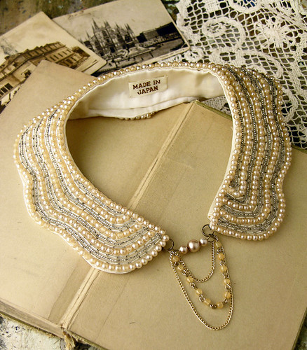 japanese pearl collar  by whiteowl remade