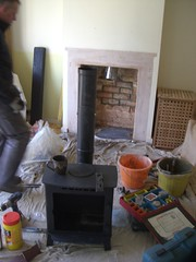 11Stove put together liner down chimney